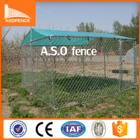 China factory produce galvanized outdoor cheap lowes dog kennels