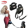 Durable Nylon Adjustable Dog Leash with Accessory Pocket