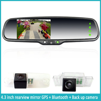 car rearview mirror with gps dvr bluetooth wifi auto dimming parking camera backup sensor. Black Bedroom Furniture Sets. Home Design Ideas