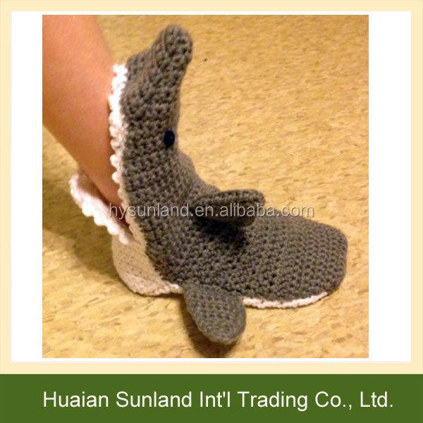 W 1060 Großhandel Frauen Männer Mode Strickmuster Haifisch Socken