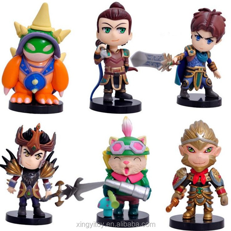 6pcs Sets League Of Legends Lol Wukong /xinzhao/rammus/garen/teemo/lucian  10cm Action Figure - Buy League Of Legends Figures,Lol Wukong
