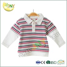 Custom cotton striped baby polo t-shirt