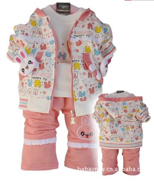 Spring 2013 appearance the infant valley brand happy little rabbit children's clothes