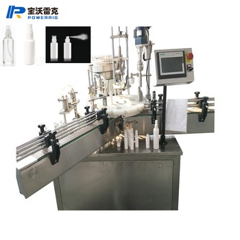 Perfume 30ml bottle filling and crimping machine