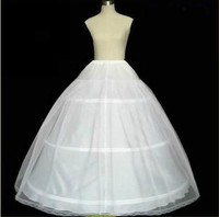 Three Hoops Petticoats for Ball Gown Adjustable Sizes Crinoline Bridal Accessories Underskirt for Wedding/Prom/Quinceanera Dress