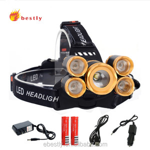 CREE T6+4*XPE led headlamp 18650 Battery USB charger headlight 20000 lumens led head lamp hike emergency light fishing outdoor