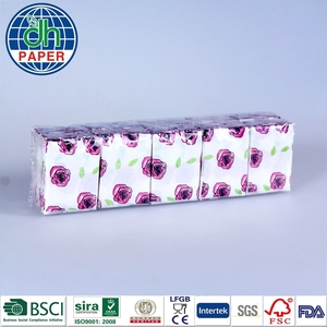 Rose printing nice tissue paper pocket tissue paper