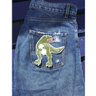 Fashion Embroidery Dinosaur Patch for Clothing Iron on Embroidered Applique Fabric Decorations Patch for Jeans