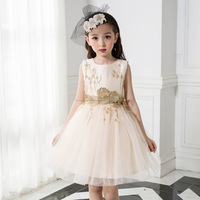 latest western design sleeveless princess vest frocks flower tutu online shopping kids bridal dress