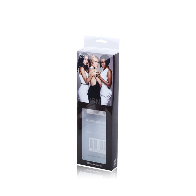 Competitive Price Plastic Pet Pvc Pp Stand Up Packing Packaging Box For Hair Extension