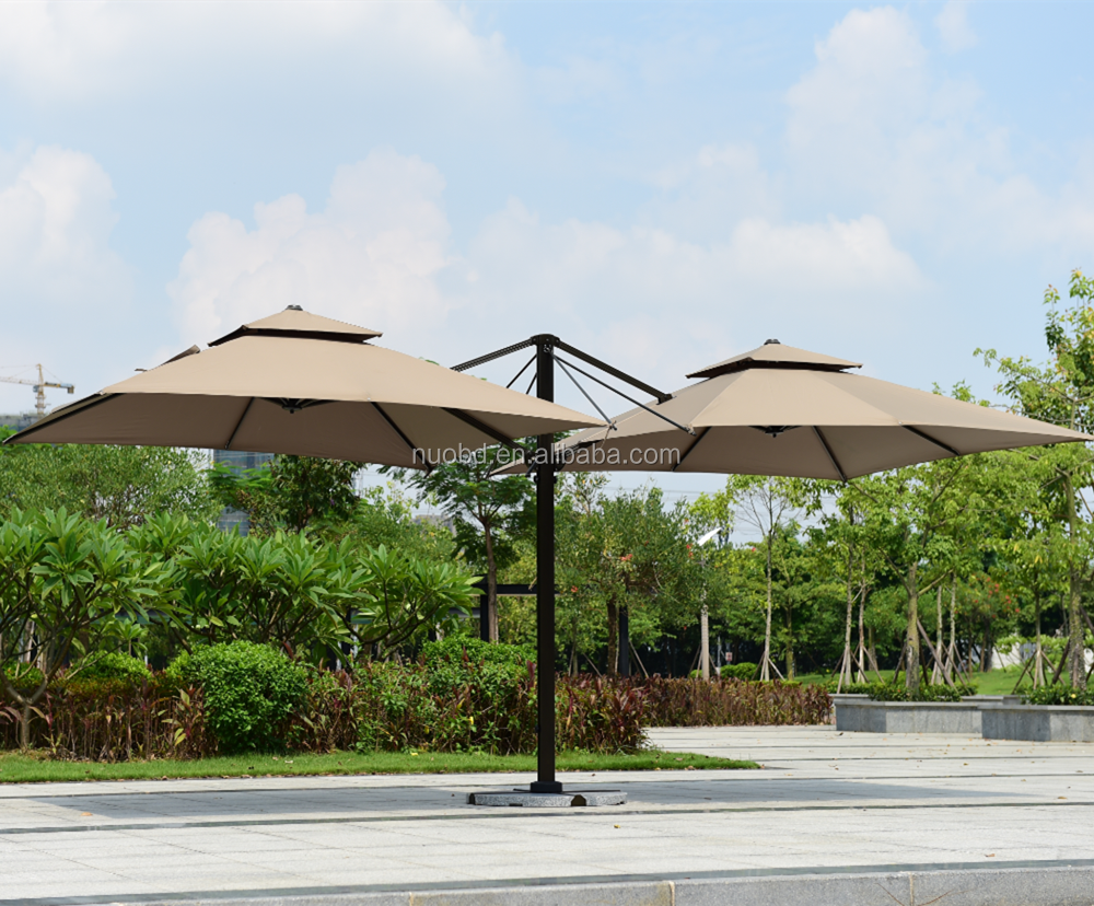 Patio Double Offset Cantilever Umbrella Outdoor Patio Hanging Umbrella With  Water Base And Umbrella Cover   Buy Patio Outdoor Parasol,Sunshade ...