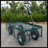 Heavy Duty rust resistant Four wheel durable meshed garden trolley cart