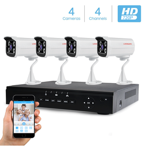 Full HD 720P Poe Security Camera System 4CH Waterproof CCTV Bullet Camera Housing With 4pcs Poe IP Camera