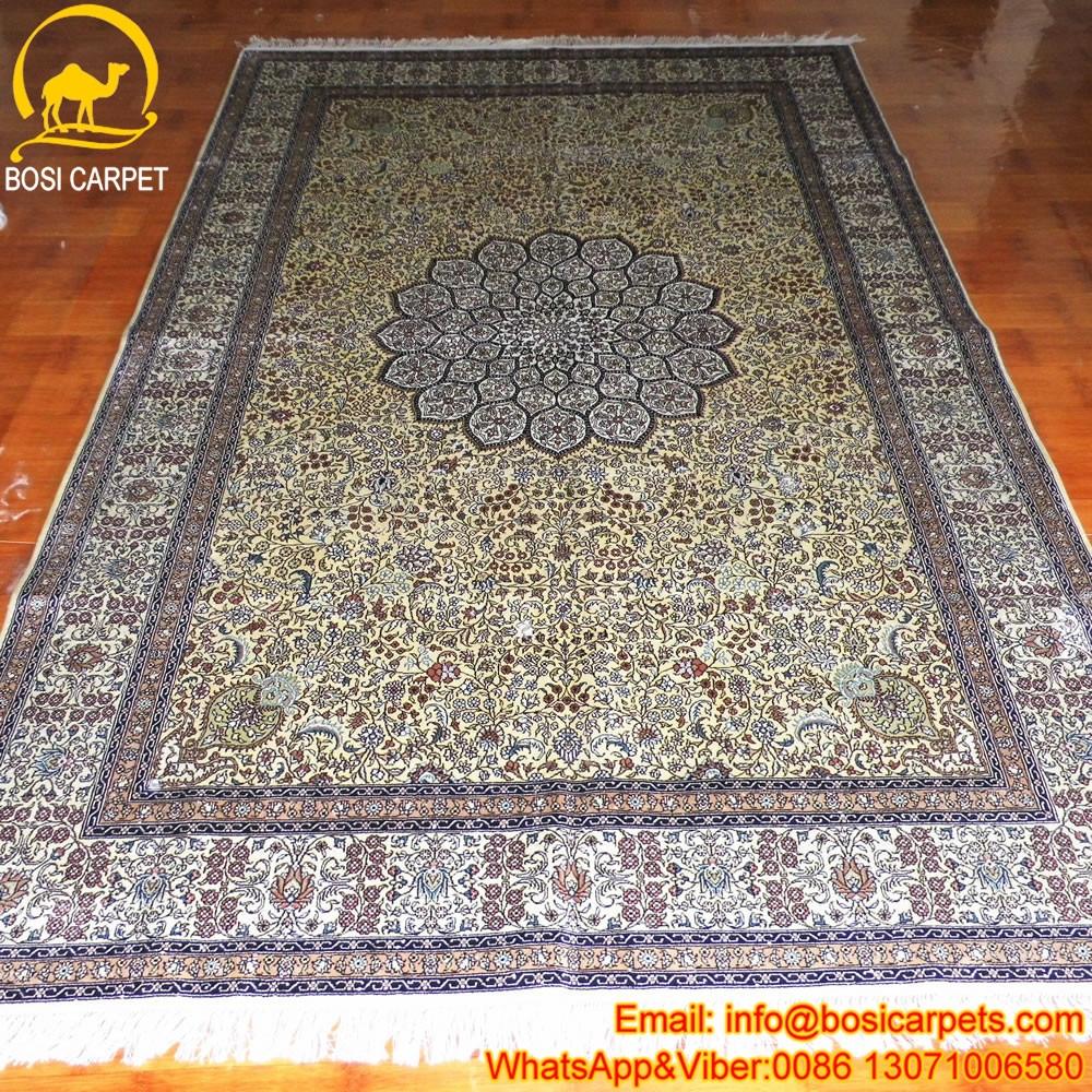 Grand 6x9ft geel mooi huis turkse tapijten ontwerp gebied tapijt ...