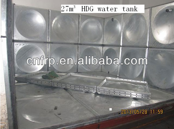 HDG steel assemble <strong>water</strong> <strong>tank</strong> 200000 Literes with steel frame support
