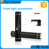 free logo printing portable cell phone charger power bank with flashlight
