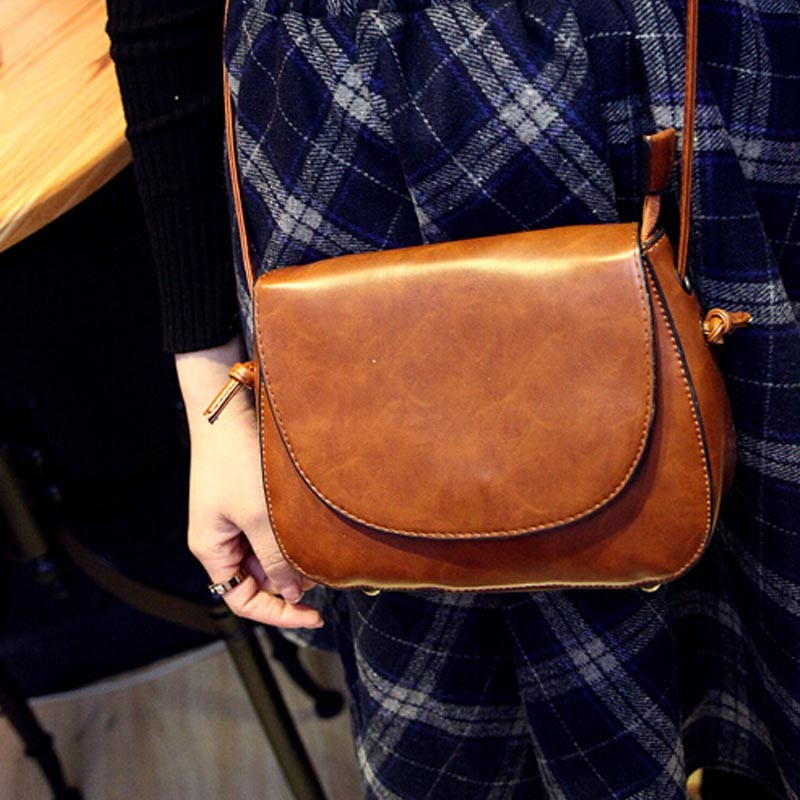 PU Leather Vintage Lady handbags Wholesale Blanks Round Casual Shoulder Bag Free Shipping Via FedEx DOM106228