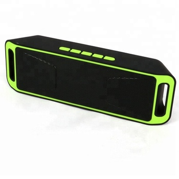 SC208 Wireless Speaker 4.0 Stereo Subwoofer Speaker TF USB FM Radio Built-in Mic Dual Bass Sound Box
