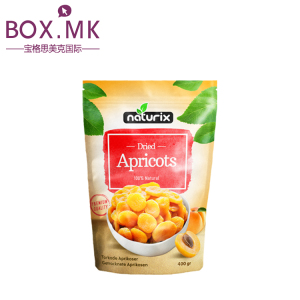 Customized Design Kraft Paper Stand Up Dried Fruit Packaging Bag With Zipper