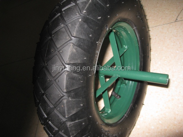 3.50-8 / 4.00-8 spokes style pneumatic rubber wheel for wheelbarrow wheel barrow 6400