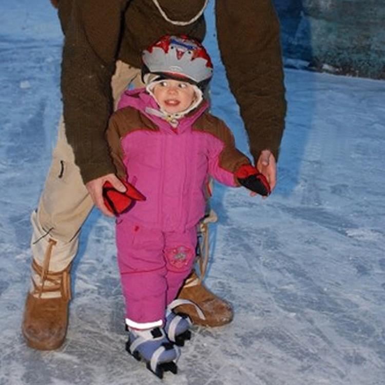 Kids Ice Skate Adjustable Double Runner Ice Skate Beginner
