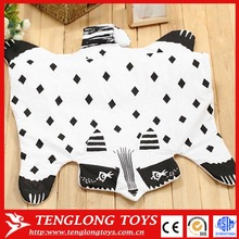 in stock cotton baby play mat,fox baby crawling pad,animal shape developing carpet toys
