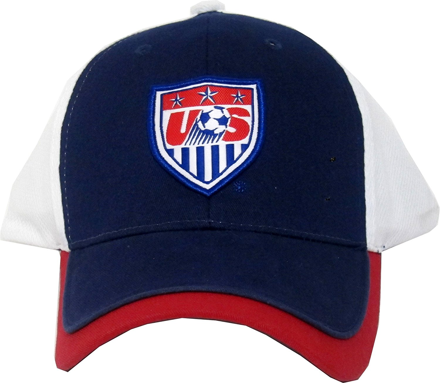 4e17a807e05 Get Quotations · Team USA Soccer 2014 Soccer Adjustable Baseball Hat Cap-Blue  with Red and White