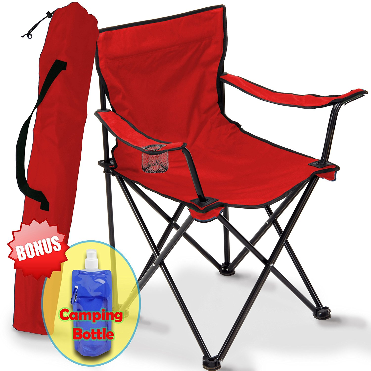 Captivating Camping Chair Folding, Portable Carry Bag For Storage And Travel, Best  Durable Outdoor Quad