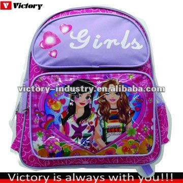 Pink princess school bag,girls school backpack