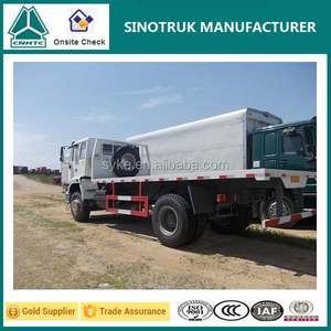 Direct factory supply SINOTRUK howo 20ft container carry flatbed truck