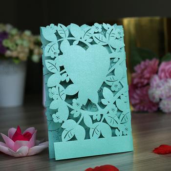 Customized Cheap Pink Lace Wedding Invitation Card Nepali Marriage
