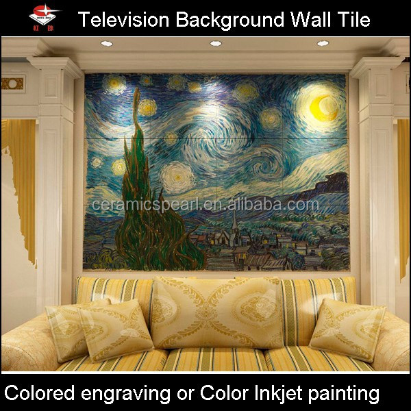BW028-Starry-Relief background wall tile for lobby sofa setting