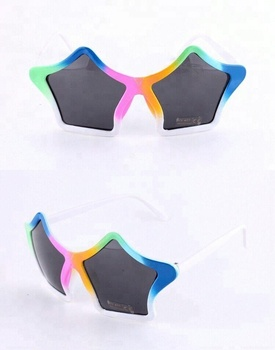 c3c1a5fb2797 2018 Five-Pointed Star Shape Plastic Free Sample Party Sun Glasses  Sunglasses