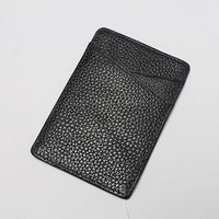 bba5514 Vertical Style Genuine Leather Small Credit Card Holder for Europe Men
