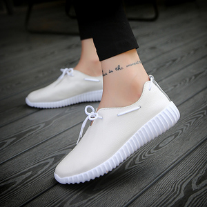 2018 latest design PU leather ladies pump eva sole flat shoes