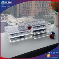 Acrylic removable Top makeup organizer acrylic cosmetic from factory