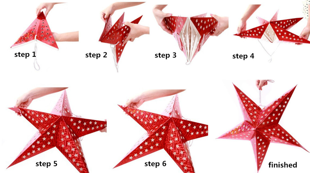 7 angles hanging light christmas decoration led paper star buy
