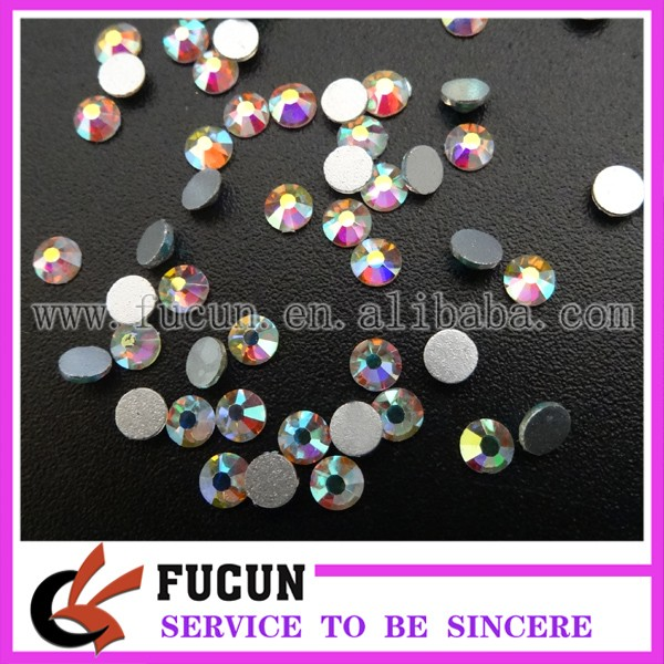 Clear White AB Flat Back Crystals Non Hot Fix Flatback Glass Rhinestone, 1440pcs SS16 Top Quality