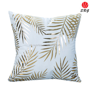 gold leaf foil printing hot selling special technique sofa back cushion covers