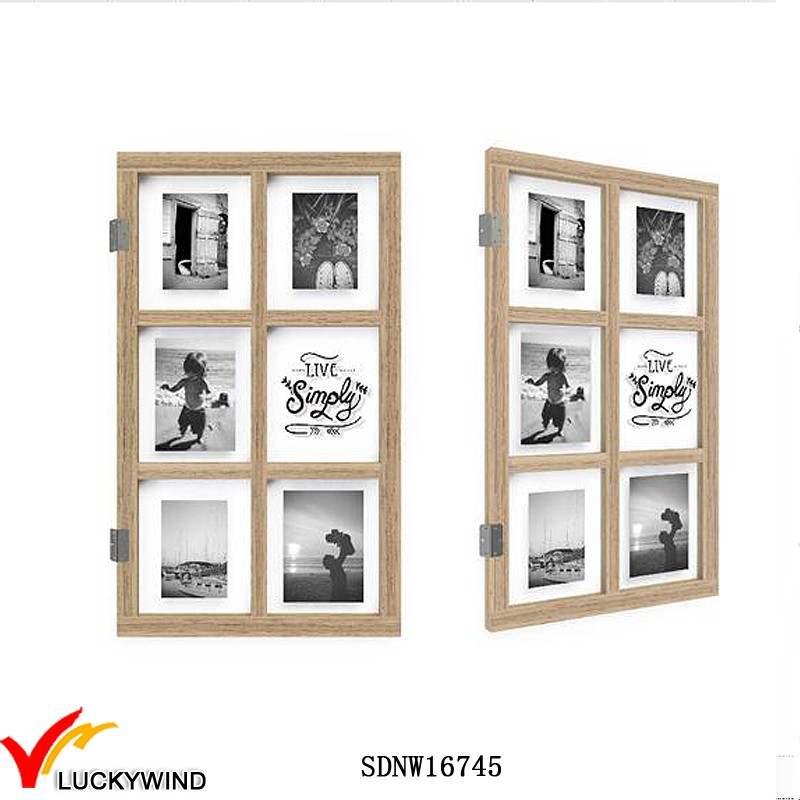 Ventana De Madera Maciza Pared Gran Collage Foto Marcos - Buy ...