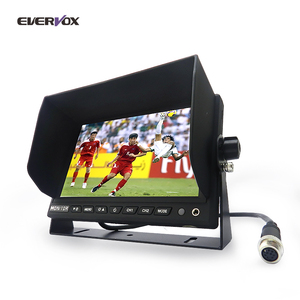 OEM Factory 7 inch 24 volt auto car reversing rear view LCD monitor system