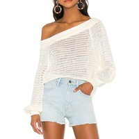 The Best And Cheapest Women's Pullover Sweater Off The Shoulder