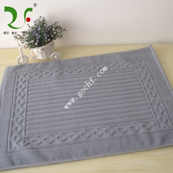 Woven Logo Hotel Bathroom Shower Foot Towel Mat