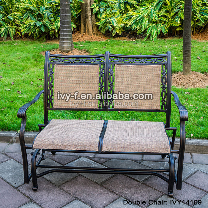 Fundici n de aluminio de jard n mecedora loveseat for Aluminio productos de fundicion muebles de jardin