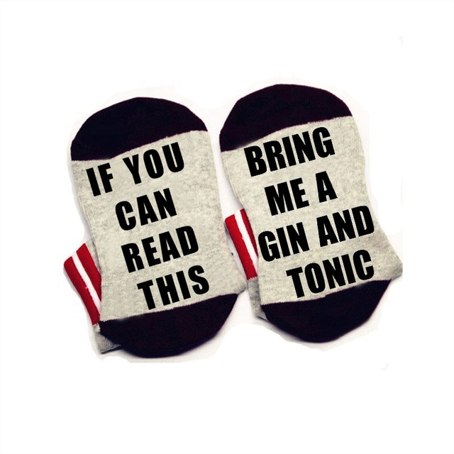 Mesdames Gin dependant Femme GIN /& TONIC Chaussettes Taille UK 4-8 EUR 37-42 US 6-10