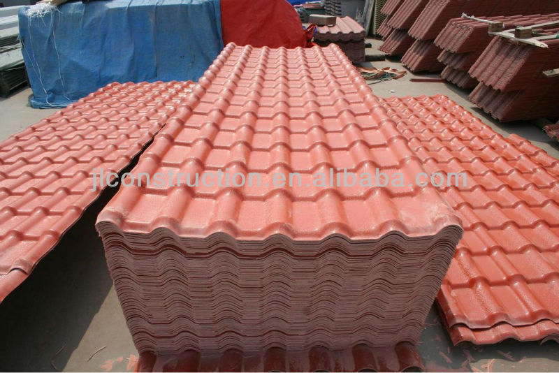 Chinese Plastic Pvc Synthetic Resin Spanish Roof Tile
