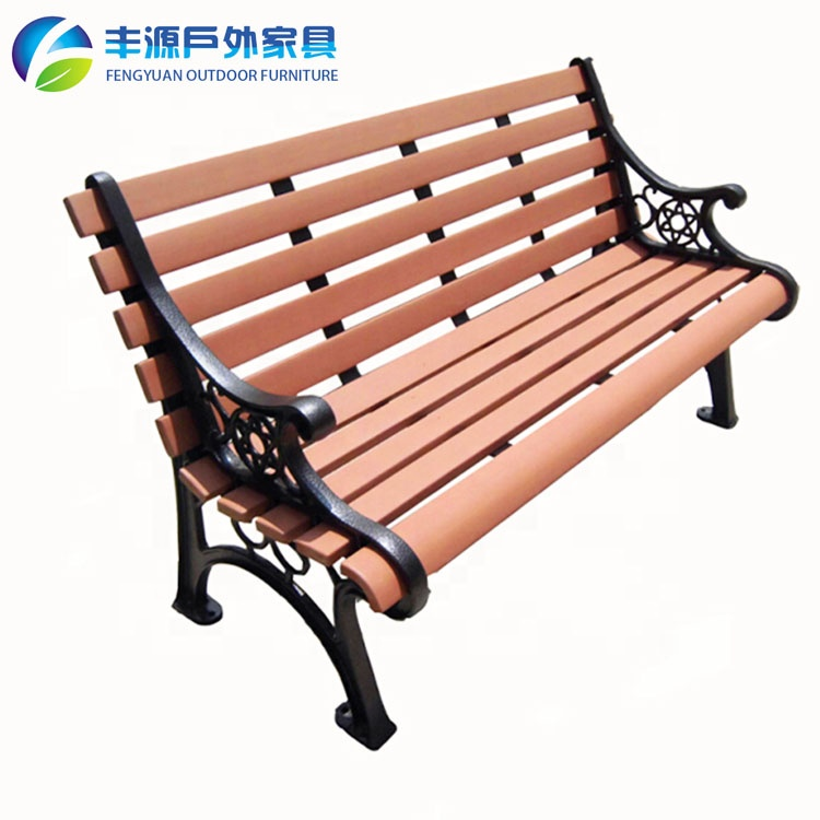 Pvc Cast iron plastic wooden garden bench park chair street legs frame ends parts and bus stop cafe seating set for outdoor