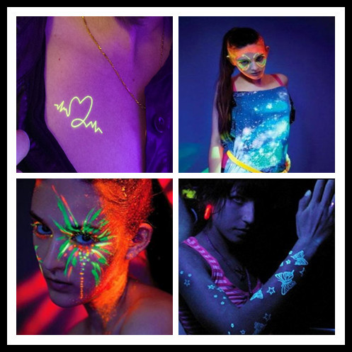 Uv Glow Blacklight Face And Body Paint Neon Fluorescent - Buy Body ... 05a939f817