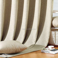 Euro style popular linen curtain ,window curtain for living room