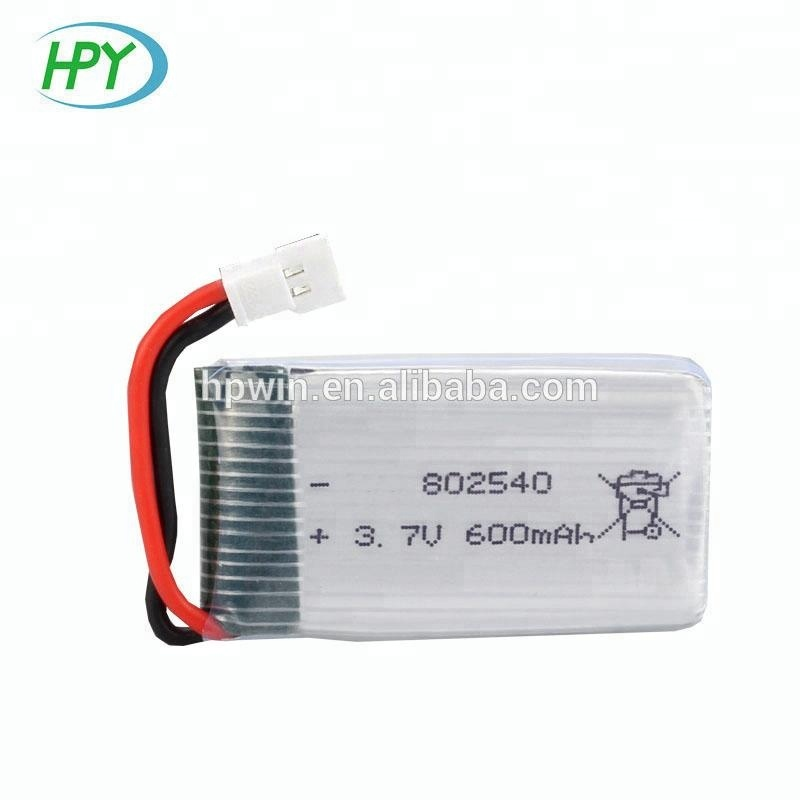 3.7V rc helicopter lipo battery 802540 650mAh lithium polymer li-ion battery for Syma X5C helicopters drone